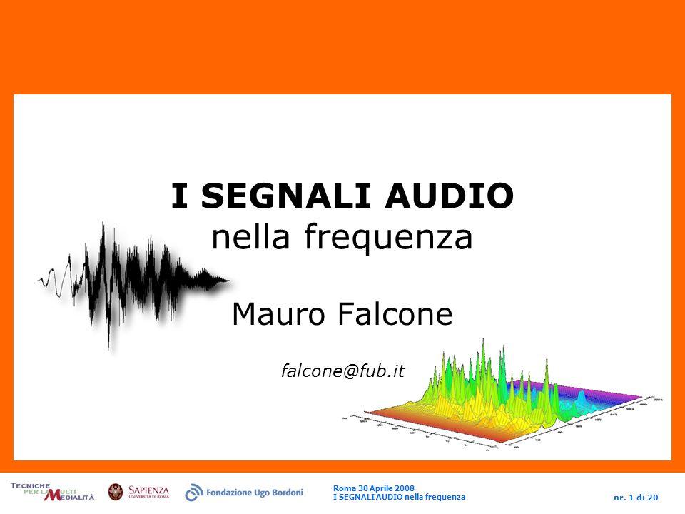 I SEGNALI AUDIO nella frequenza