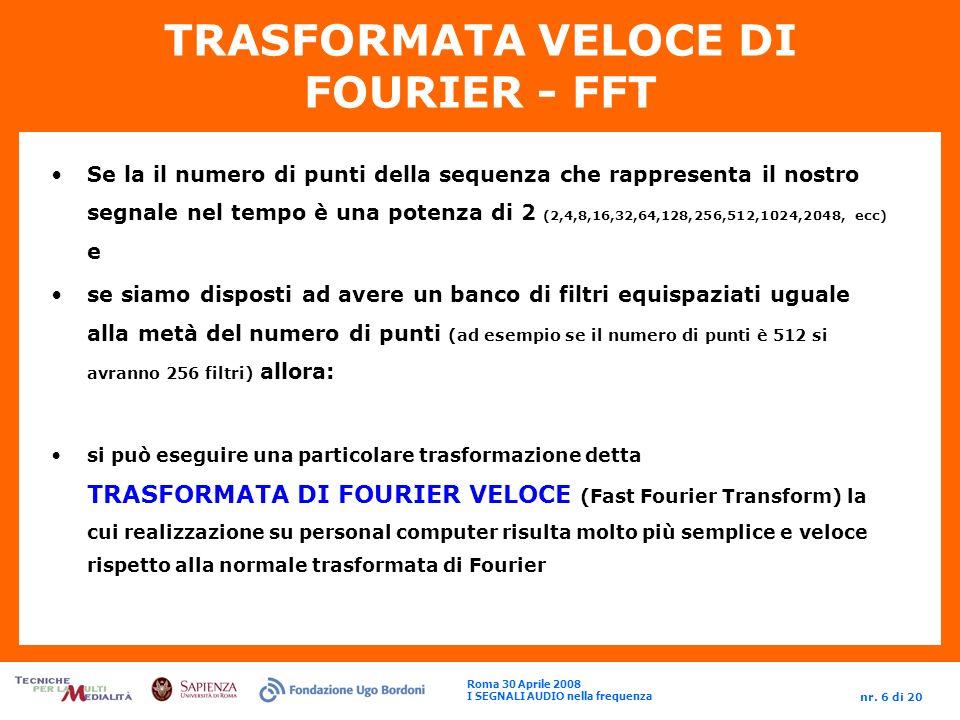 TRASFORMATA VELOCE DI FOURIER - FFT