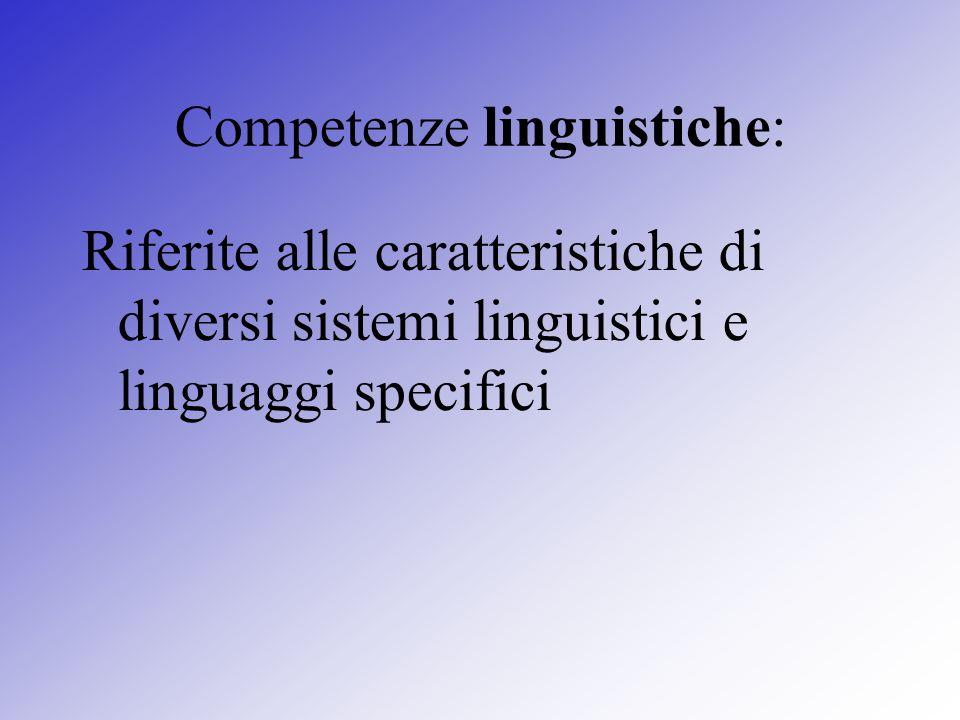 Competenze linguistiche: