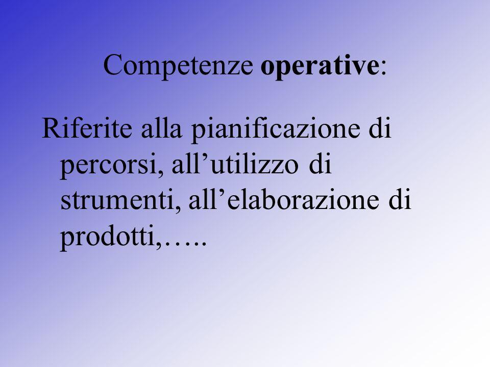 Competenze operative: