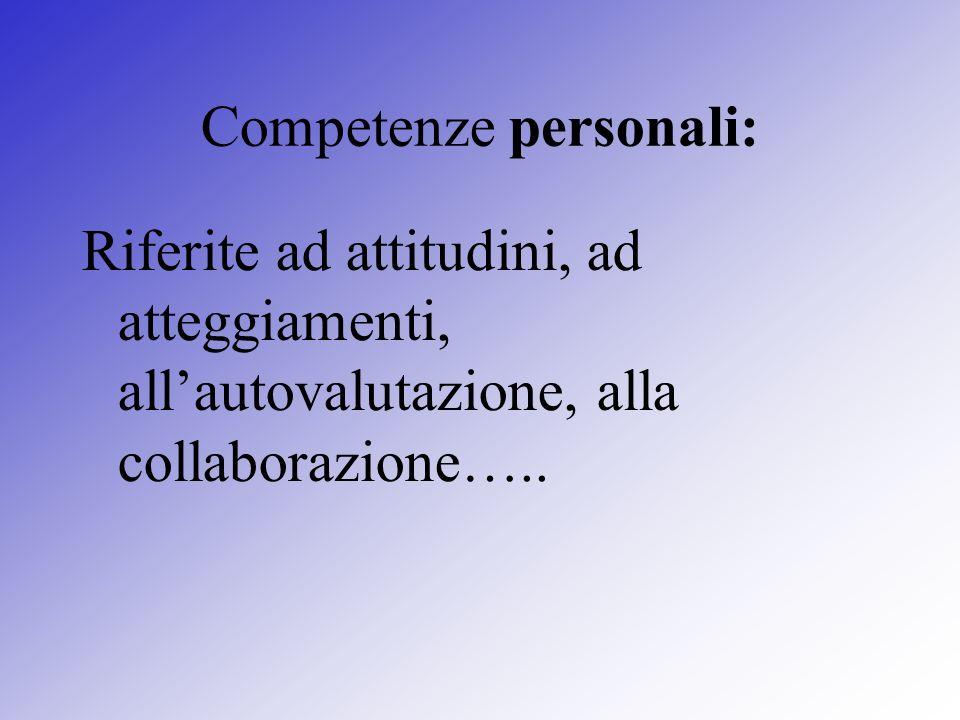 Competenze personali: