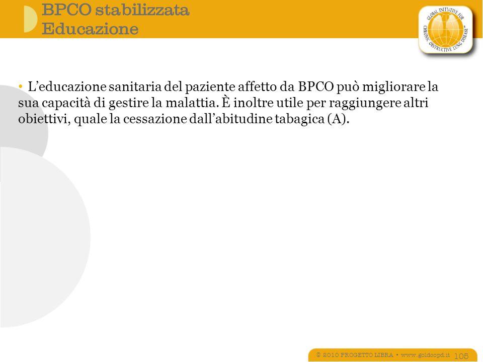 BPCO stabilizzata Educazione