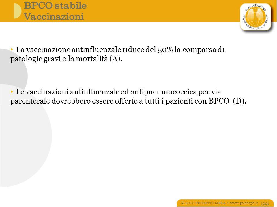 BPCO stabile Vaccinazioni