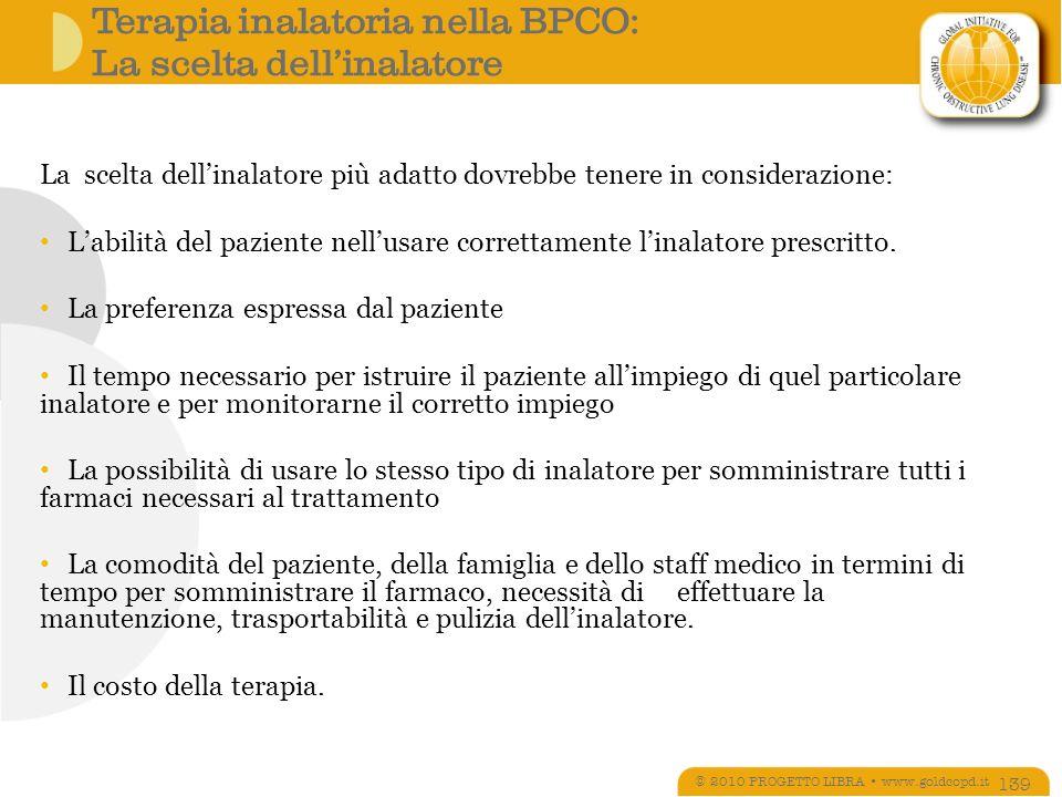Terapia inalatoria nella BPCO: La scelta dell'inalatore
