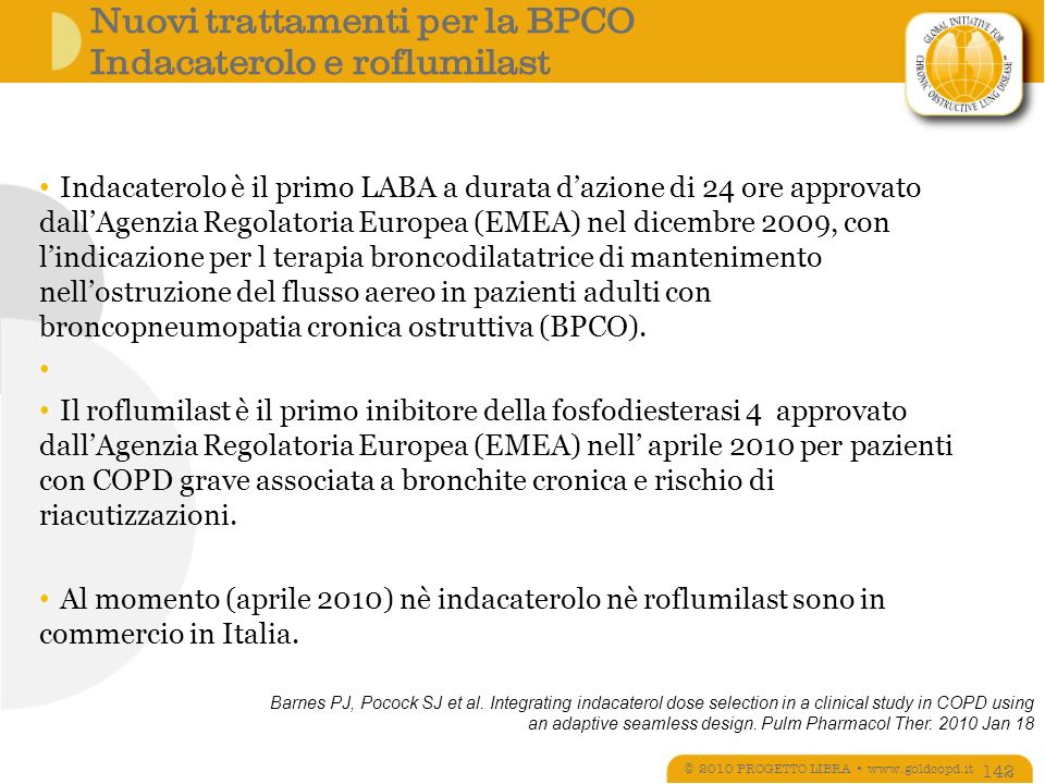Nuovi trattamenti per la BPCO Indacaterolo e roflumilast