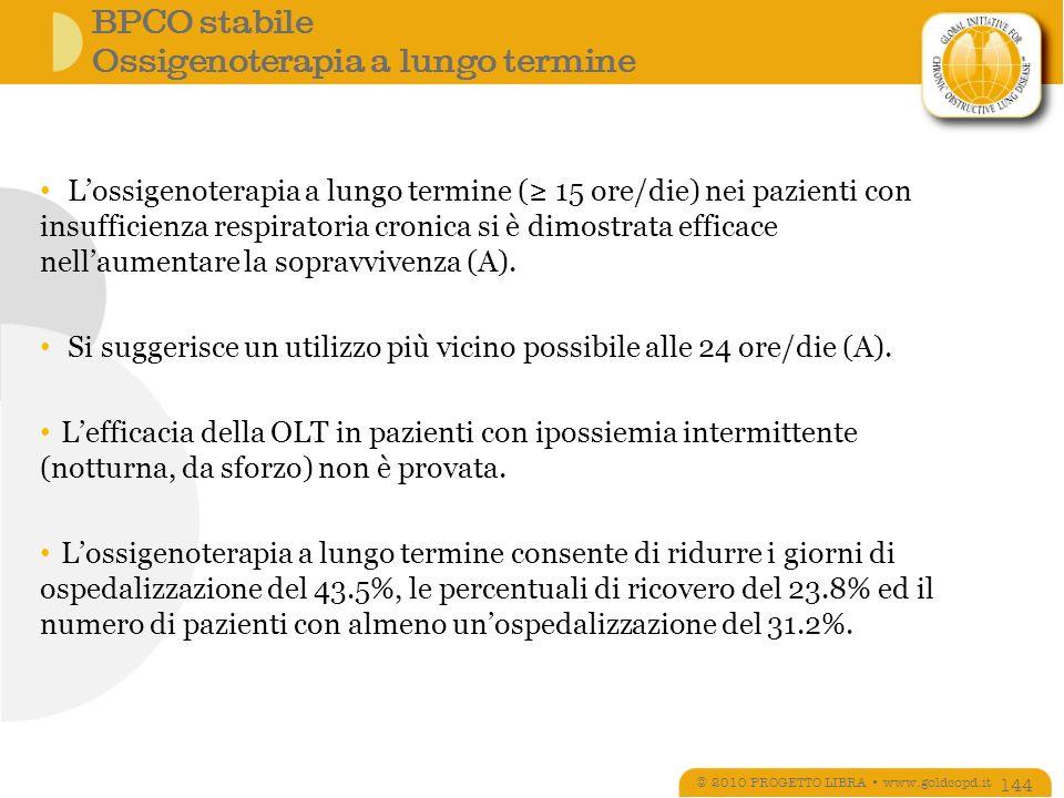 BPCO stabile Ossigenoterapia a lungo termine
