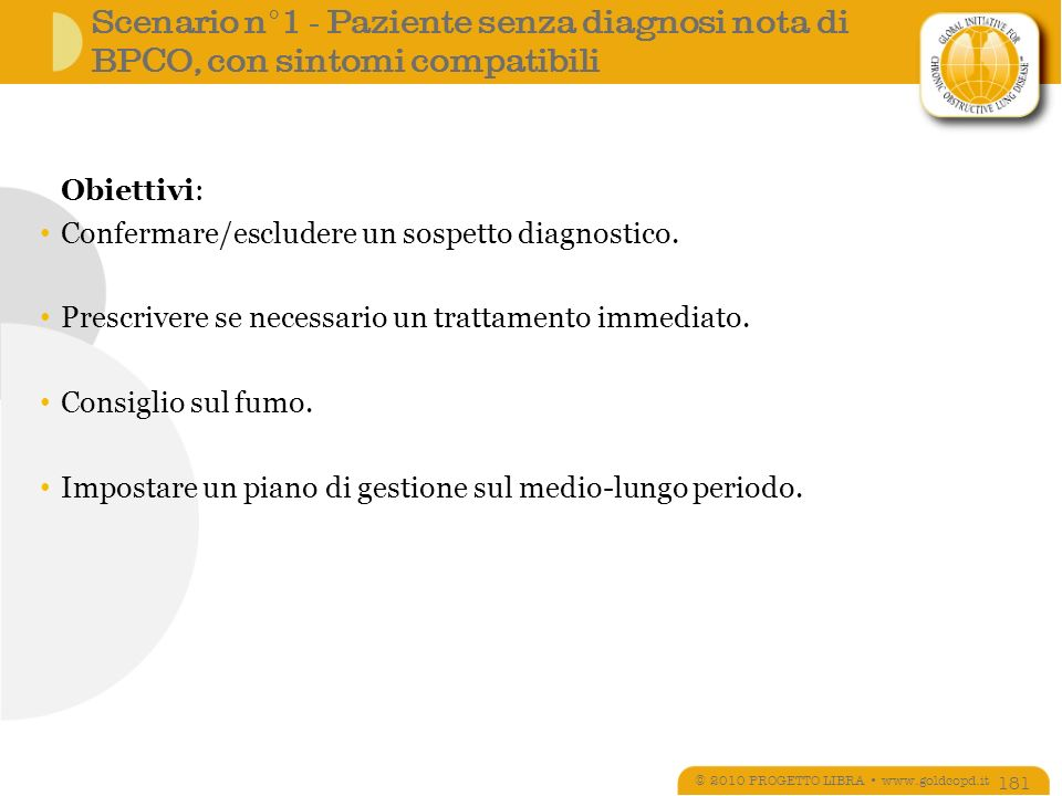 © 2010 PROGETTO LIBRA • www.goldcopd.it