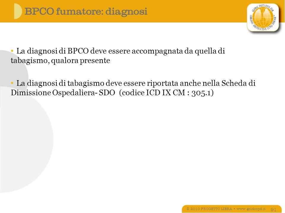 BPCO fumatore: diagnosi