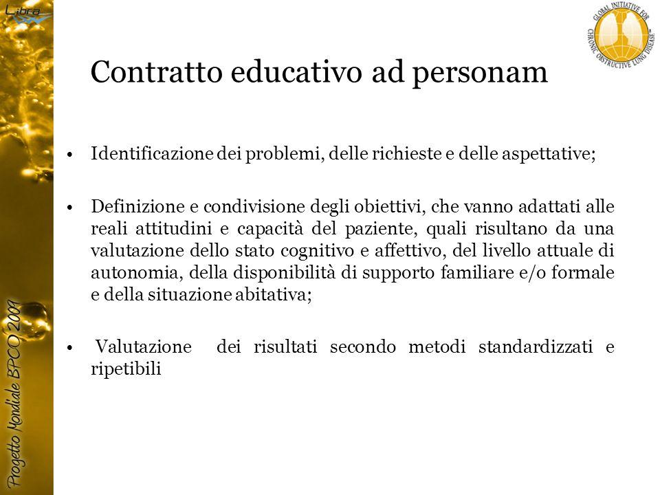 Contratto educativo ad personam