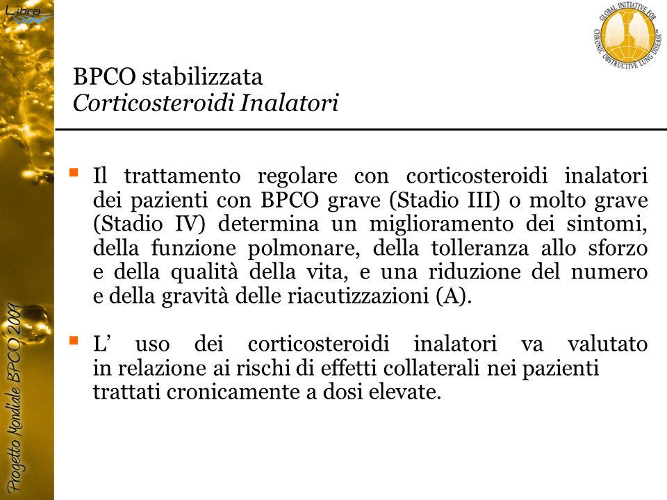 BPCO stabilizzata Corticosteroidi Inalatori