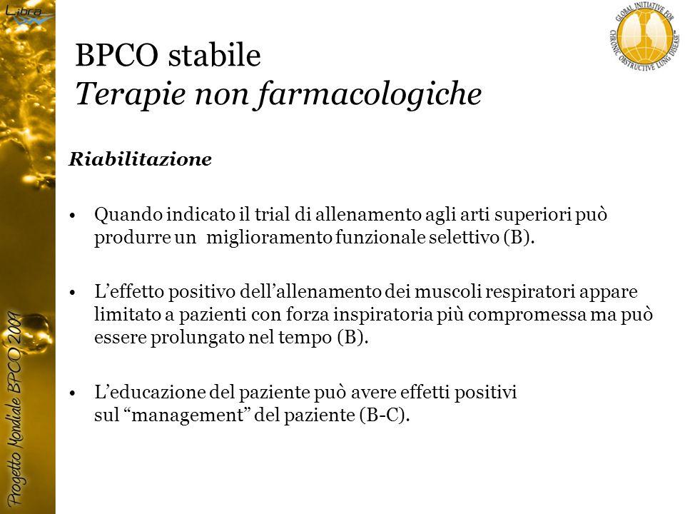 BPCO stabile Terapie non farmacologiche