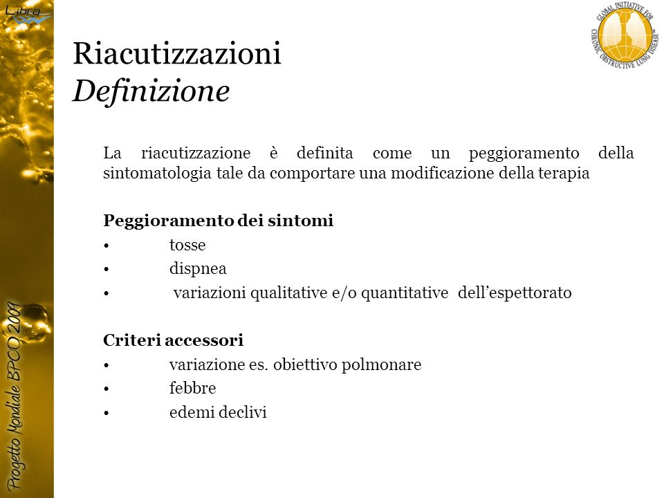 Riacutizzazioni Definizione