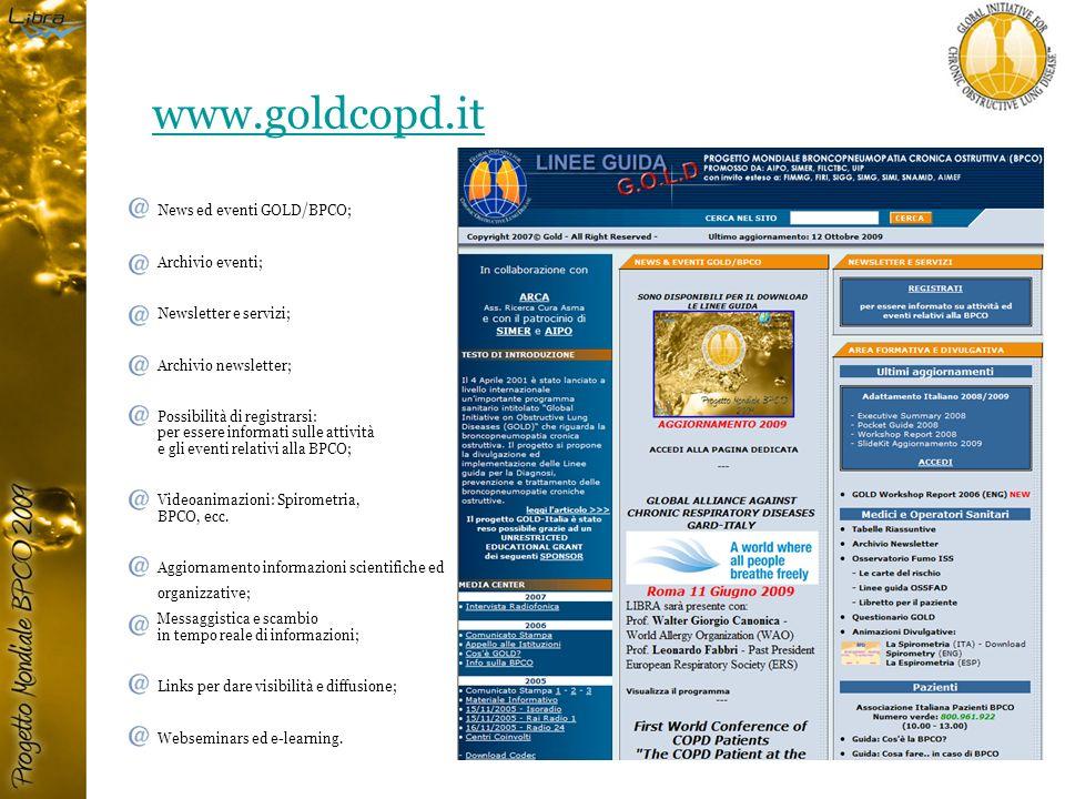 www.goldcopd.it 183 News ed eventi GOLD/BPCO; Archivio eventi;