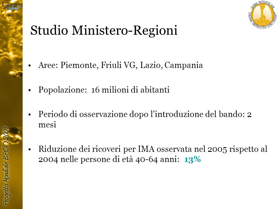 Studio Ministero-Regioni