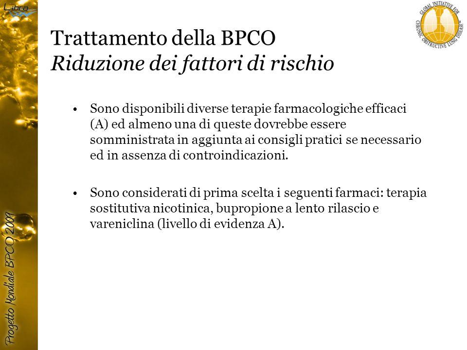 Trattamento della BPCO Riduzione dei fattori di rischio