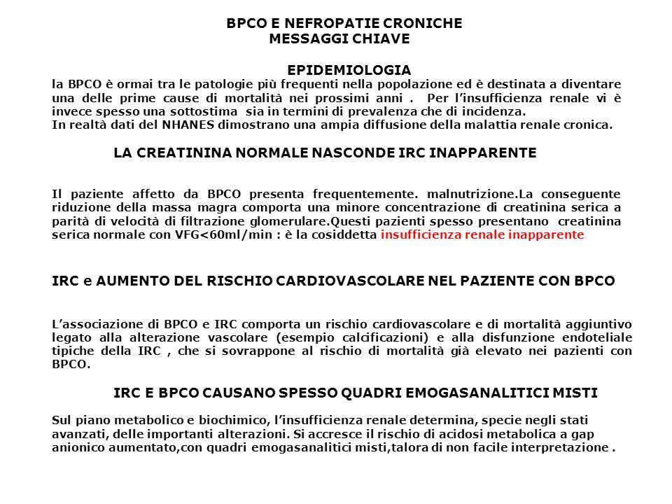 IRC e AUMENTO DEL RISCHIO CARDIOVASCOLARE NEL PAZIENTE CON BPCO