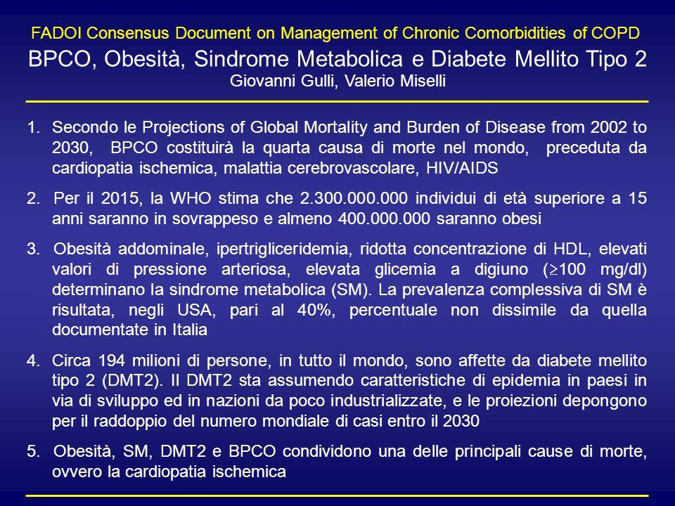 BPCO, Obesità, Sindrome Metabolica e Diabete Mellito Tipo 2