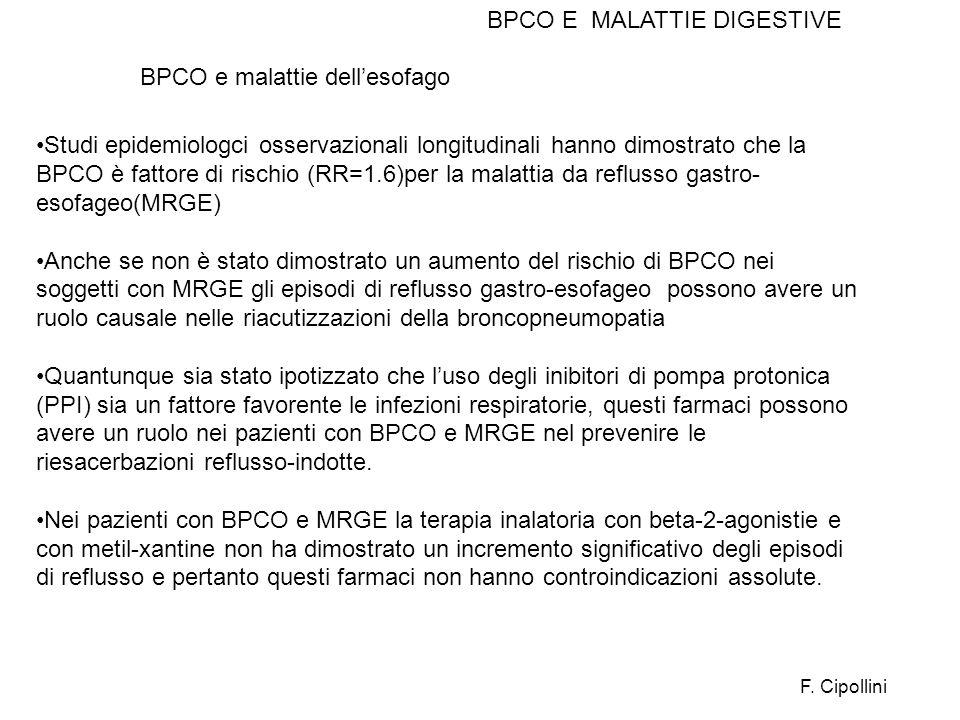 BPCO E MALATTIE DIGESTIVE