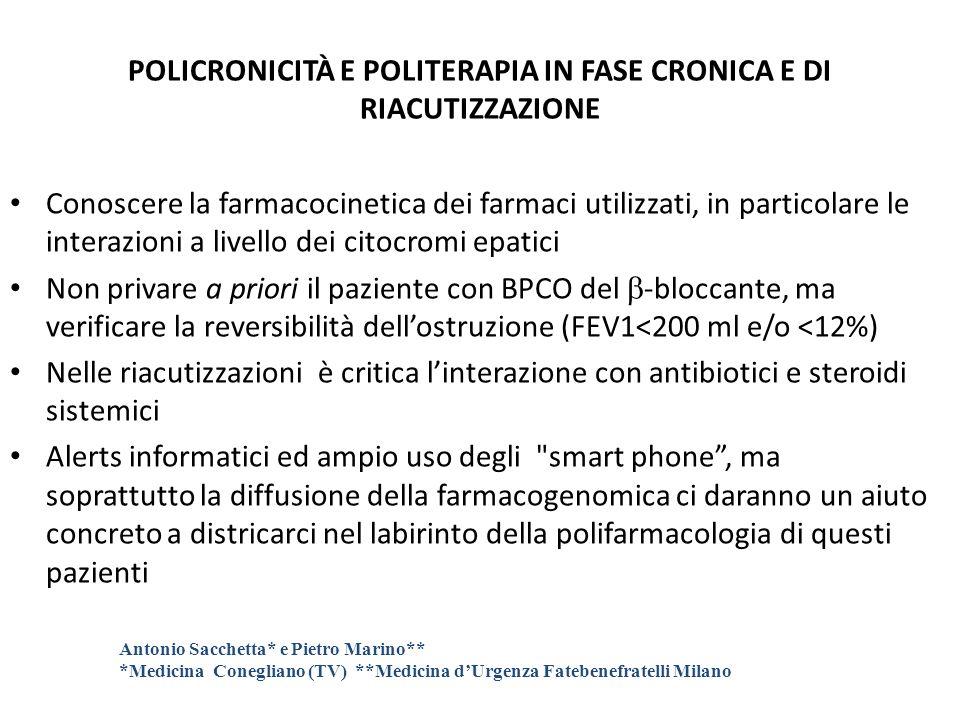 POLICRONICITÀ E POLITERAPIA IN FASE CRONICA E DI RIACUTIZZAZIONE