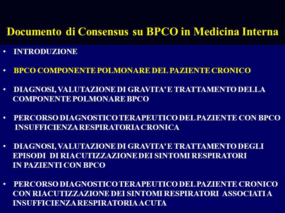 Documento di Consensus su BPCO in Medicina Interna