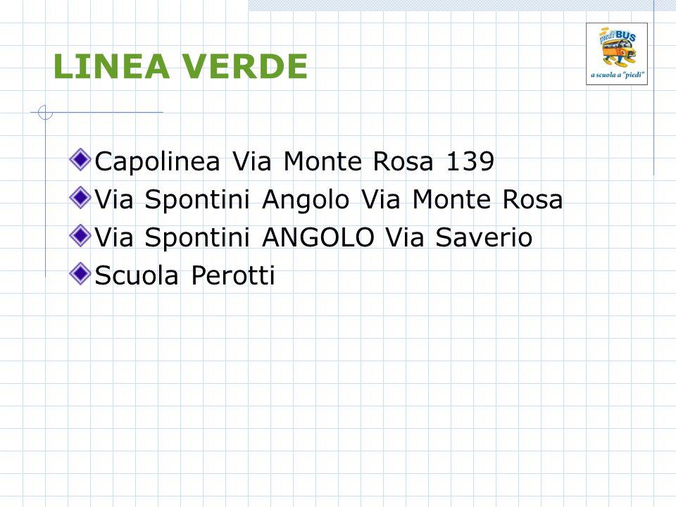 LINEA VERDE Capolinea Via Monte Rosa 139