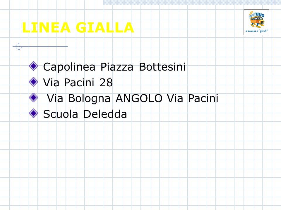LINEA GIALLA Capolinea Piazza Bottesini Via Pacini 28