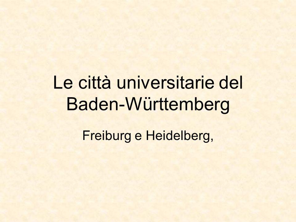 Le città universitarie del Baden-Württemberg