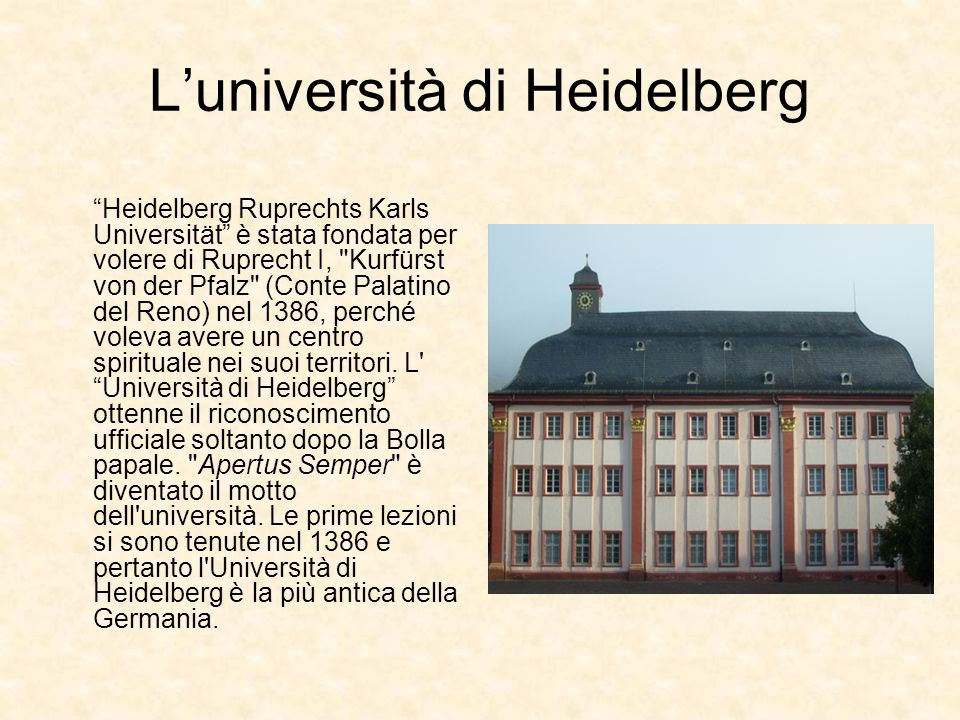 L'università di Heidelberg