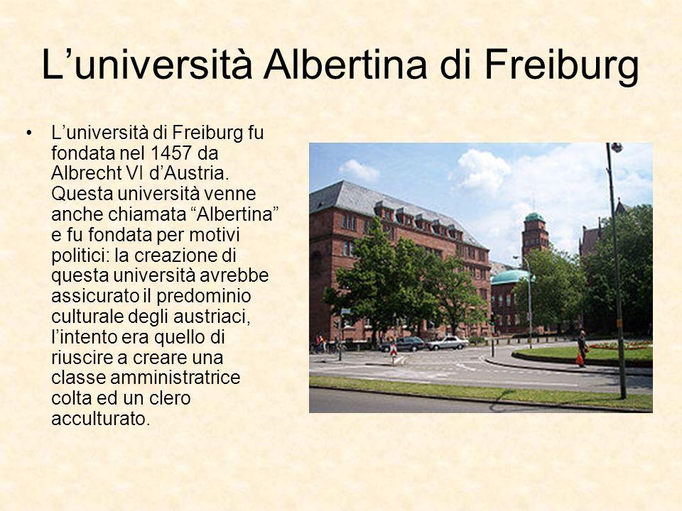 L'università Albertina di Freiburg