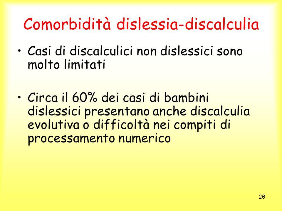 Comorbidità dislessia-discalculia