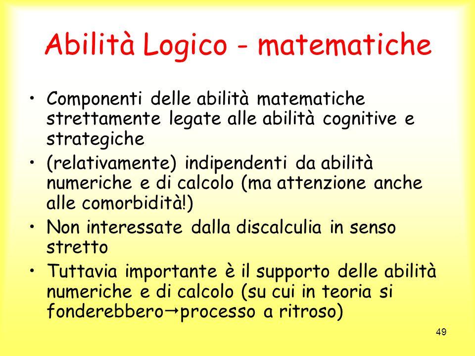 Abilità Logico - matematiche