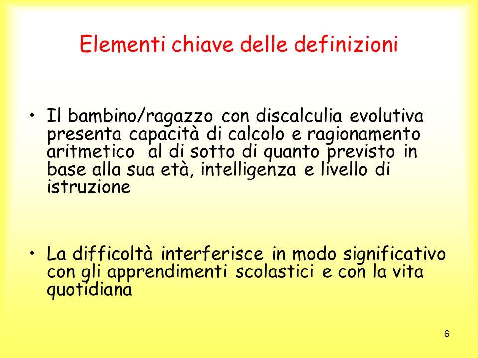 Elementi chiave delle definizioni