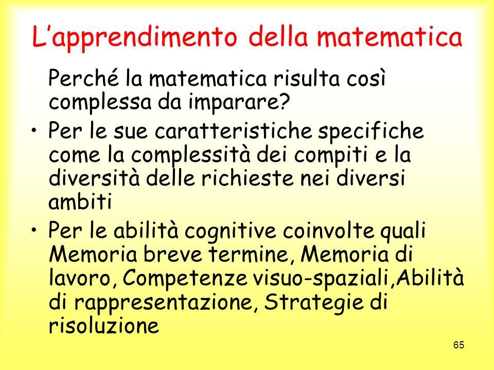 L'apprendimento della matematica