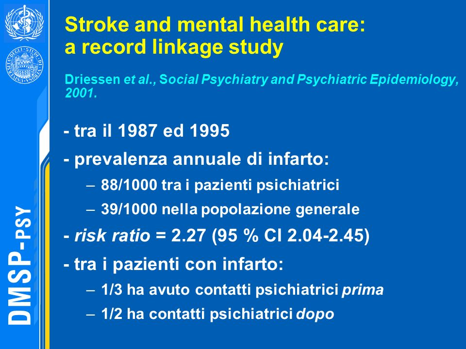 Stroke and mental health care: a record linkage study Driessen et al