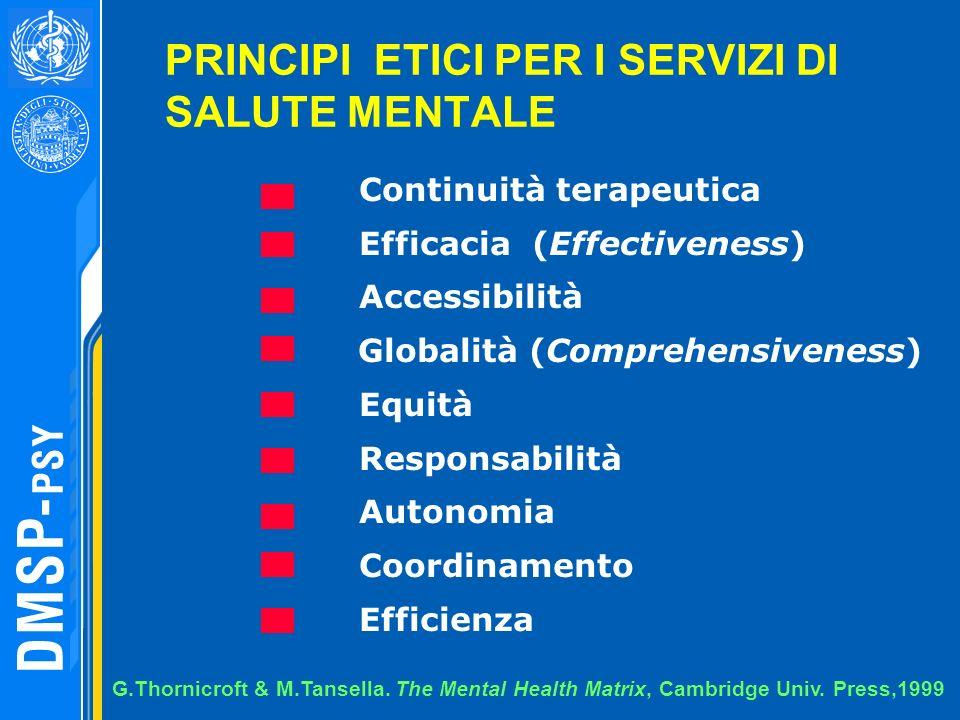 PRINCIPI ETICI PER I SERVIZI DI SALUTE MENTALE
