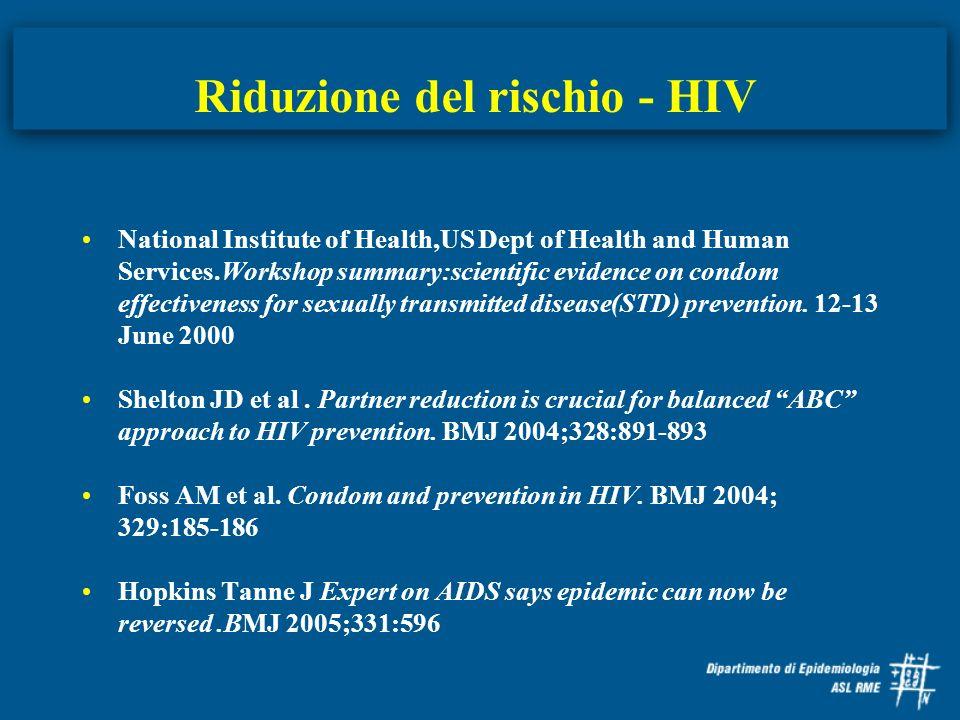 Riduzione del rischio - HIV