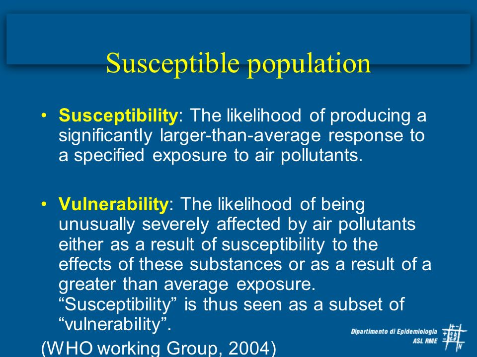 Susceptible population
