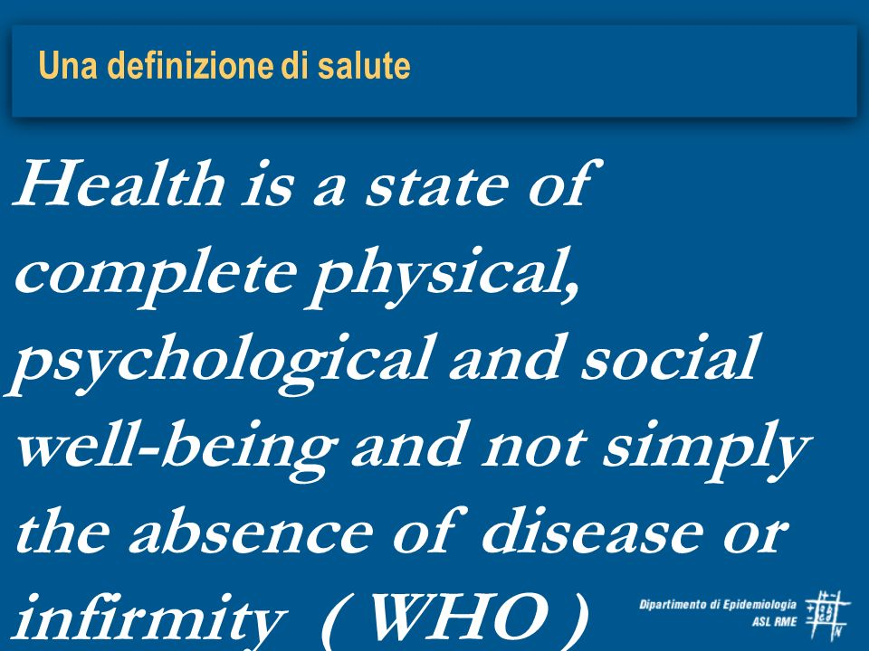 Una definizione di salute