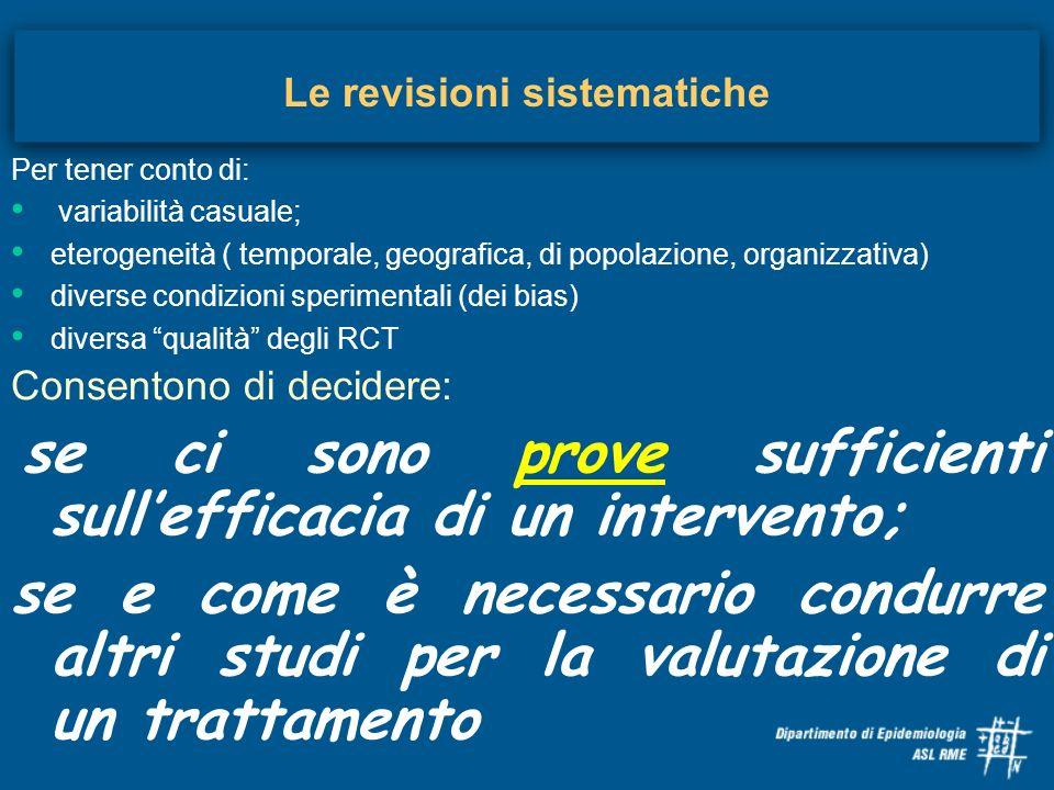 Le revisioni sistematiche