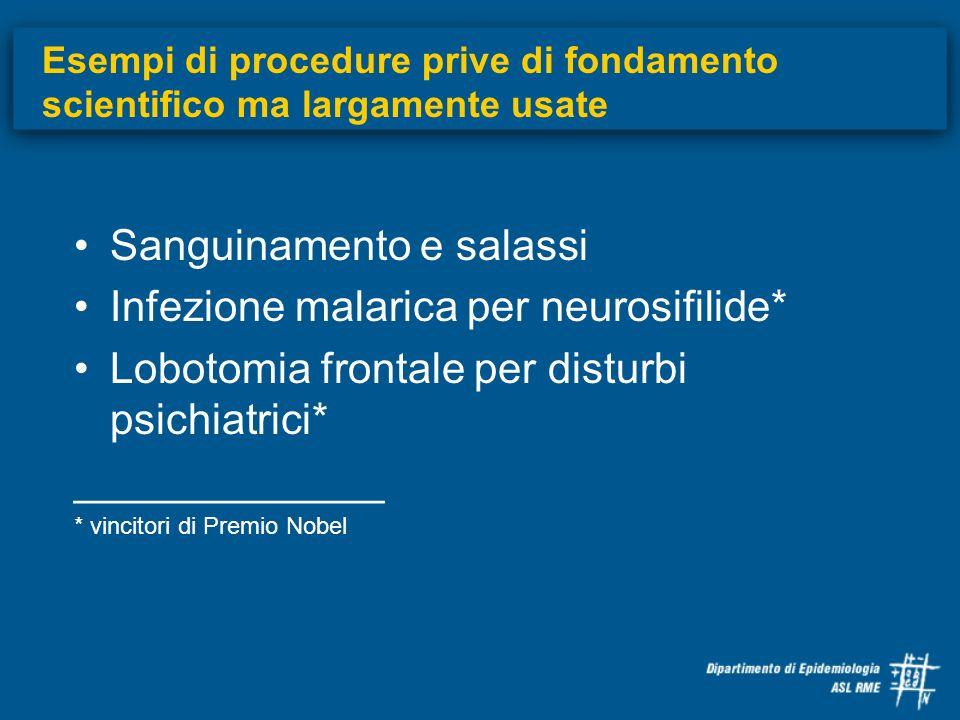 Sanguinamento e salassi Infezione malarica per neurosifilide*