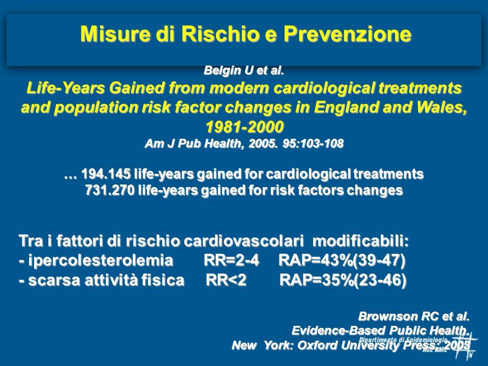 Misure di Rischio e Prevenzione