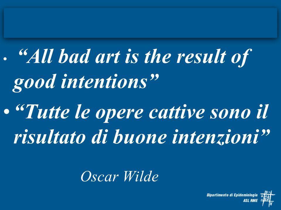 Tutte le opere cattive sono il risultato di buone intenzioni