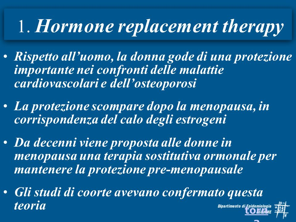 1. Hormone replacement therapy