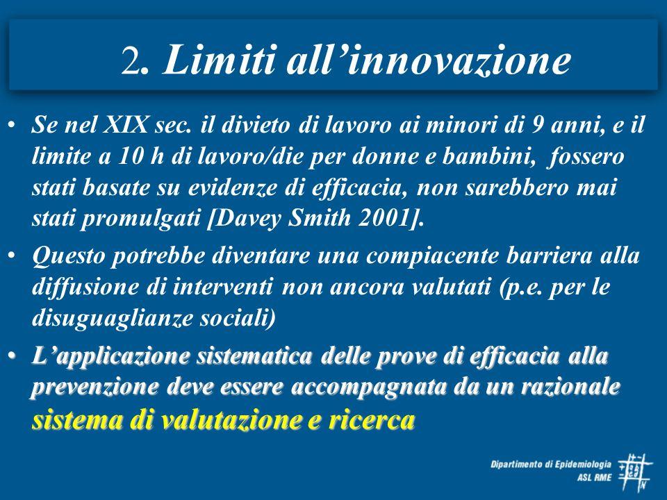 2. Limiti all'innovazione