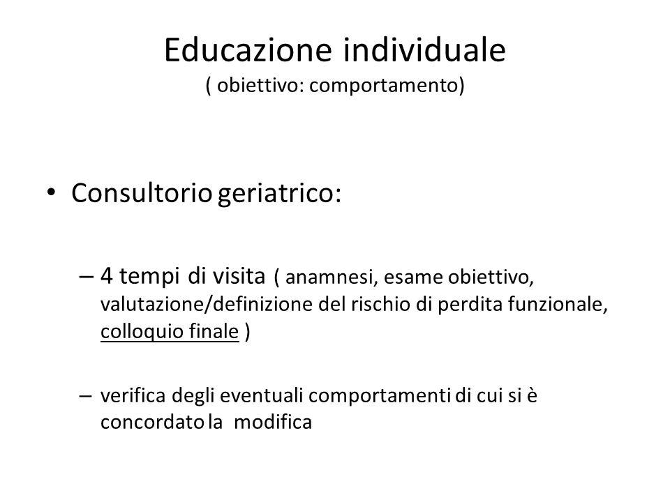 Educazione individuale ( obiettivo: comportamento)