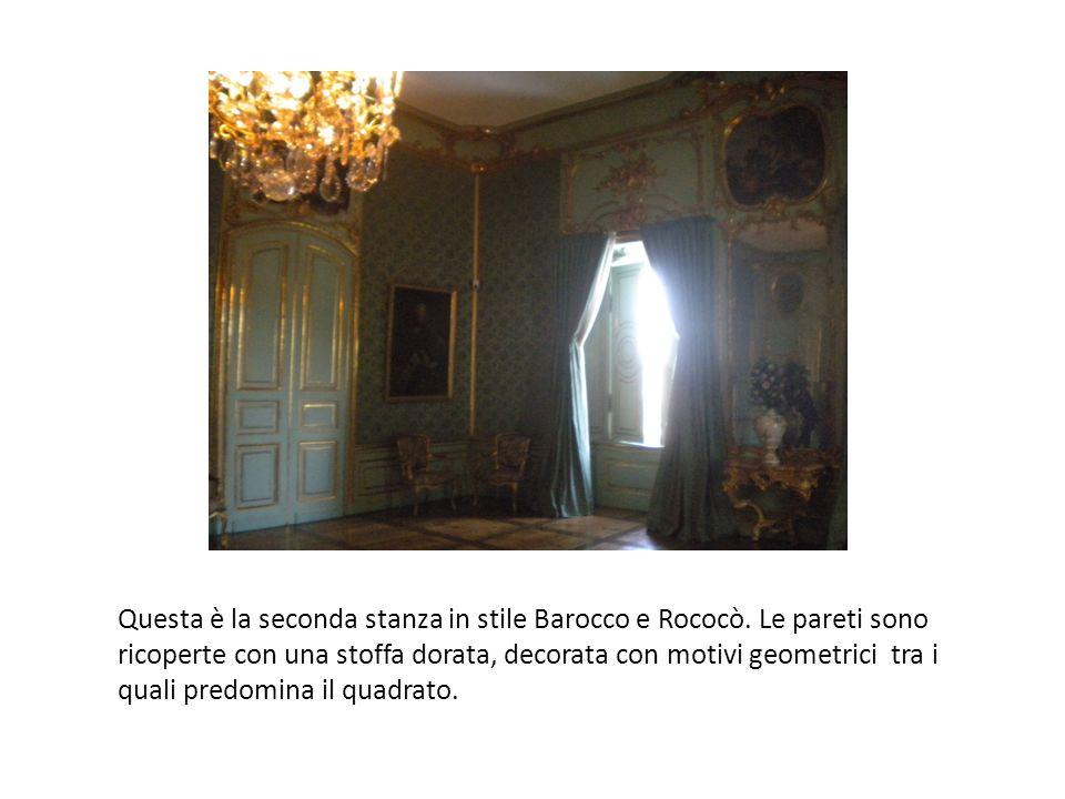 Questa è la seconda stanza in stile Barocco e Rococò