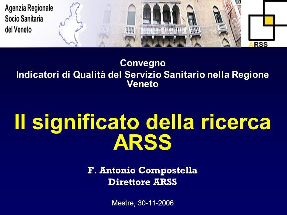 Il significato della ricerca ARSS