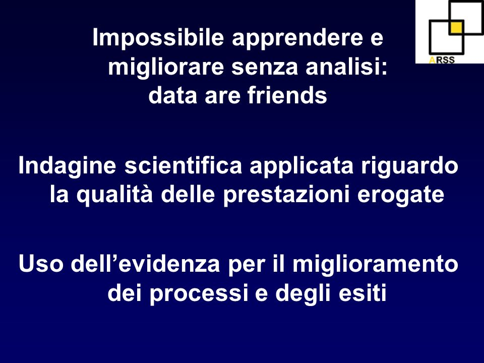 Impossibile apprendere e migliorare senza analisi: data are friends