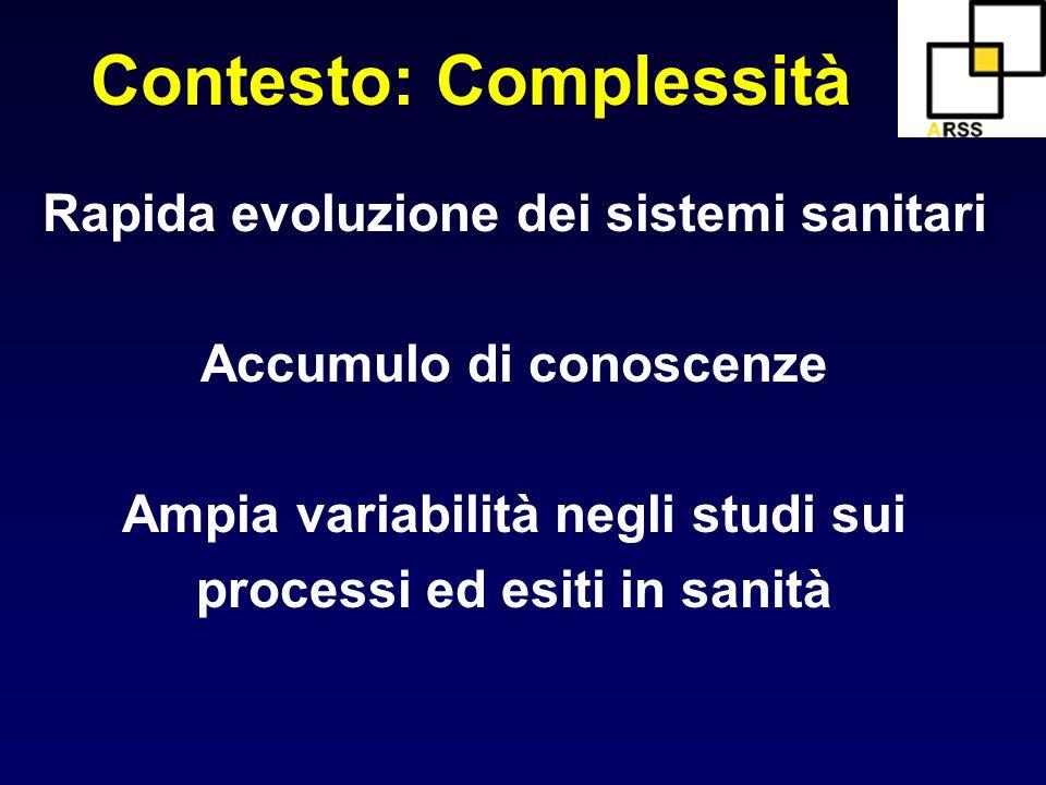 Contesto: Complessità