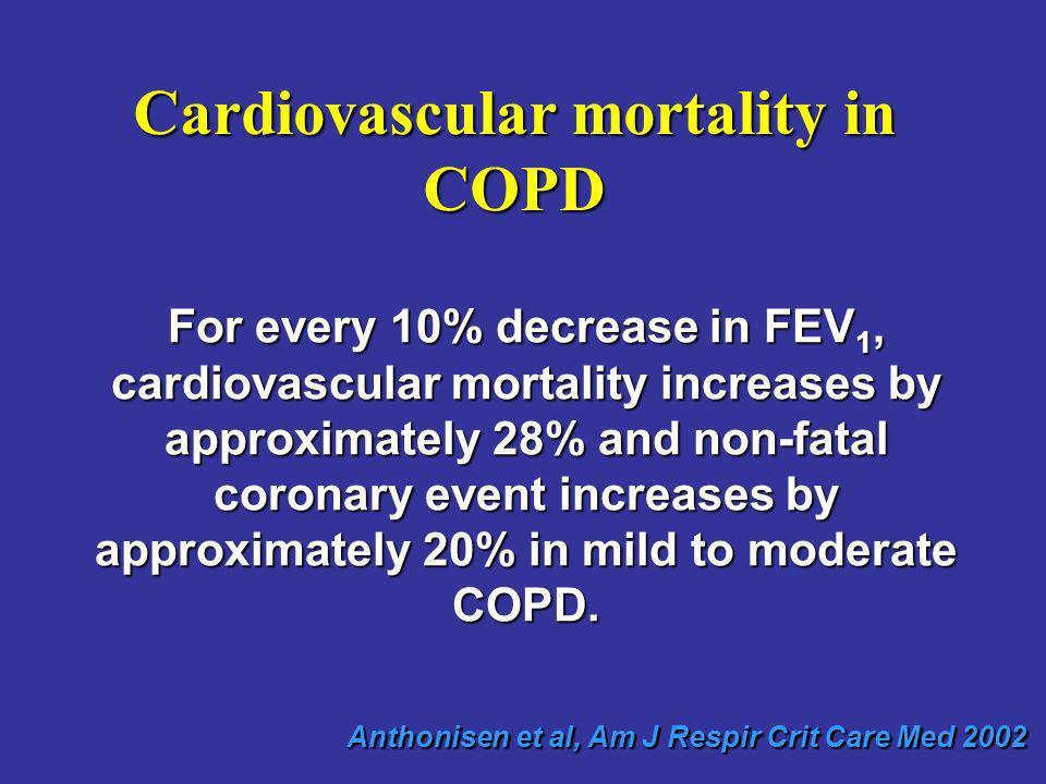 Cardiovascular mortality in COPD
